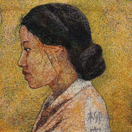 Quilt of woman in kimono