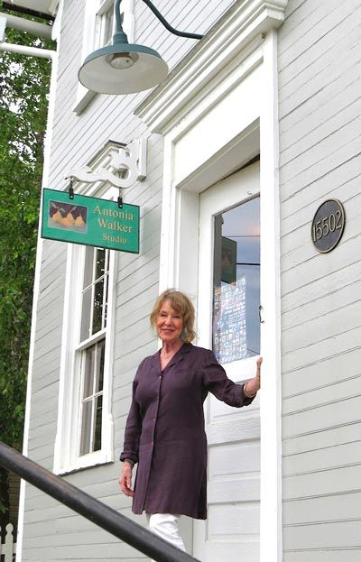Antonia Walker outside her studio