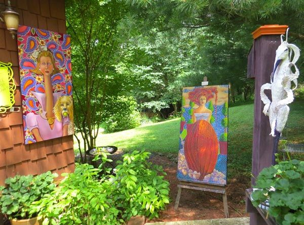 Judith Thomspon artwork outside studio