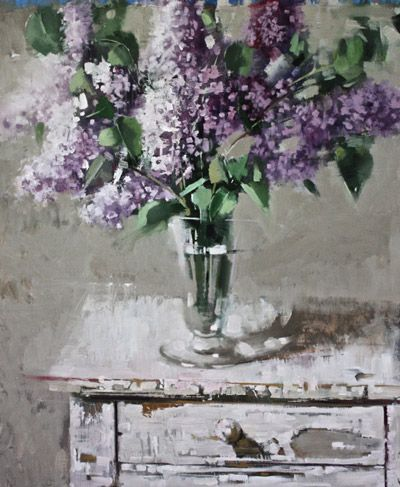 End of Summer Lilacs 24X36