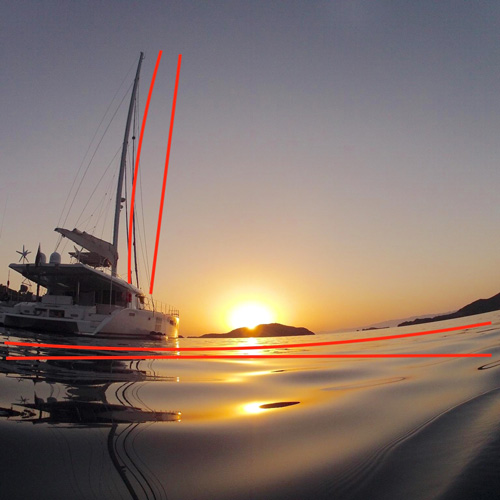 Photograph showing warp that happens with wide angle lens