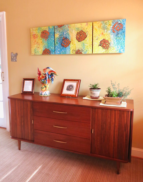 The other credenza with its mid-century modern flair.