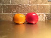 #4  Tomatoes on gold aluminum cookie sheet