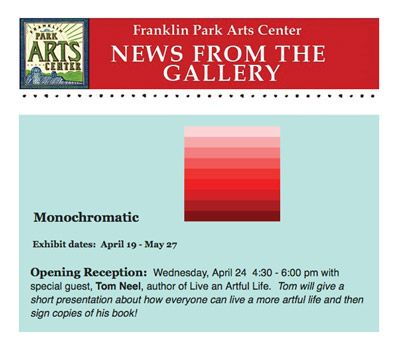 Speaking Wednesday at Franklin Park Arts Center